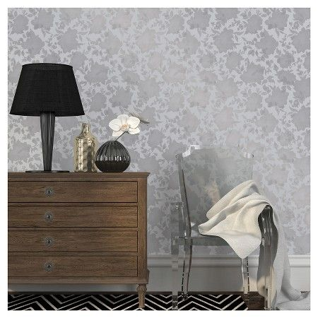 The 25 best silver wallpaper target ideas on pinterest silver tempaper silhouette removable wallpaper metallic silver gumiabroncs Image collections