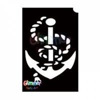 Glimmer Body Art Glitter Tattoo Stencils - Anchor (5/pack)