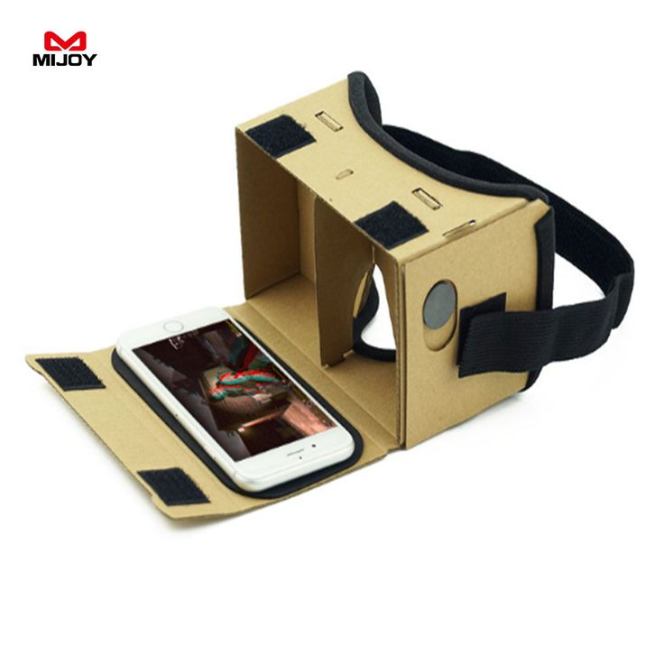 MIJOY Virtual Reality Glasses Google Cardboard Comfort able Glasses 3D Glasses VR Box Movie For iPhone 6 7 SmartPhone VR Headset