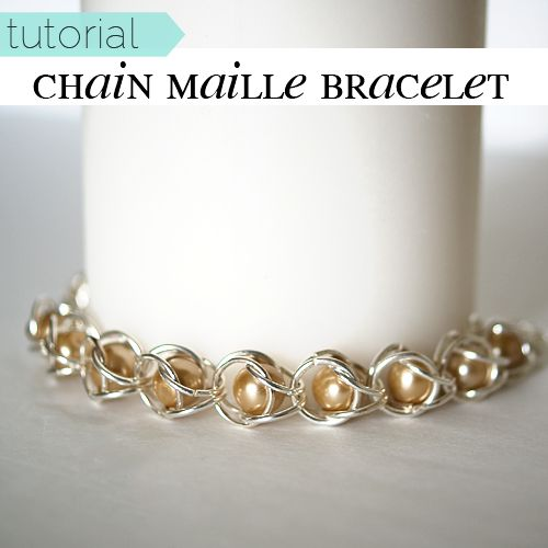 [pinit] Recently I had Irina from Irina's Cute Box here to share with you her gorgeous chain maille pearl bracelet tutorial.  My sister fell in love with it, so when we had a night together this weekend, we knew it was time to give this project a go.  They were super easy, and worked up fast.  We are both addicted, and we love our new bracelets.  I have a few designs in mind with some beads other than pearls, and sis wants to make one with glass beads next. Irina's tutorial linked above is…