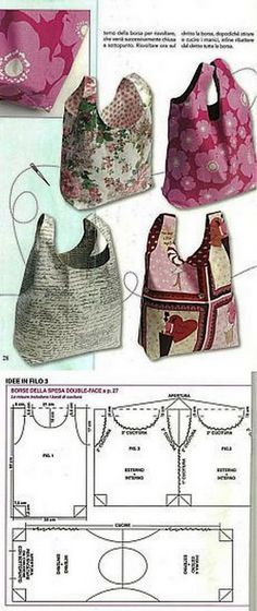 DIY bolsos de tela Más