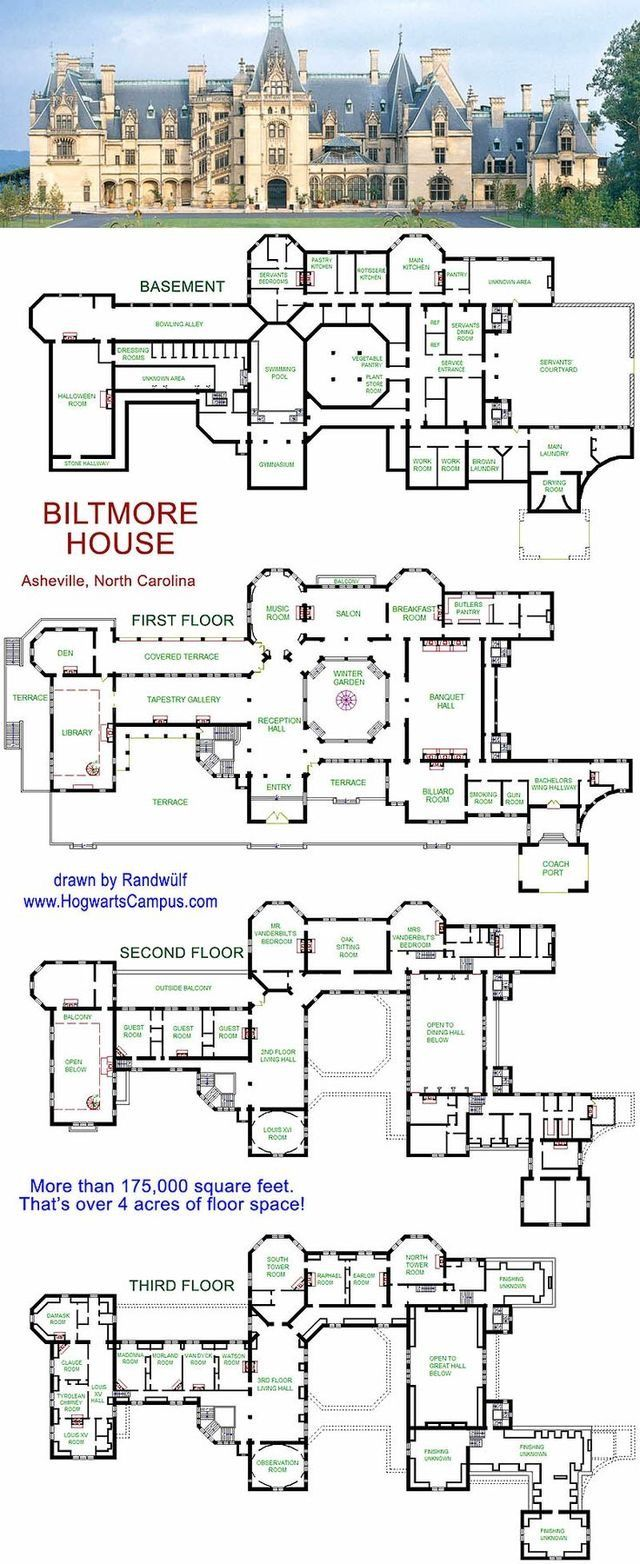 172 best floor plan inspirations images on pinterest hogwarts school floor plan just in case you wanted to know ok it s not but it would be the perfect place for a wizarding school love the biltmore house