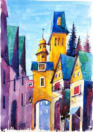 Urban watercolor Tilenti