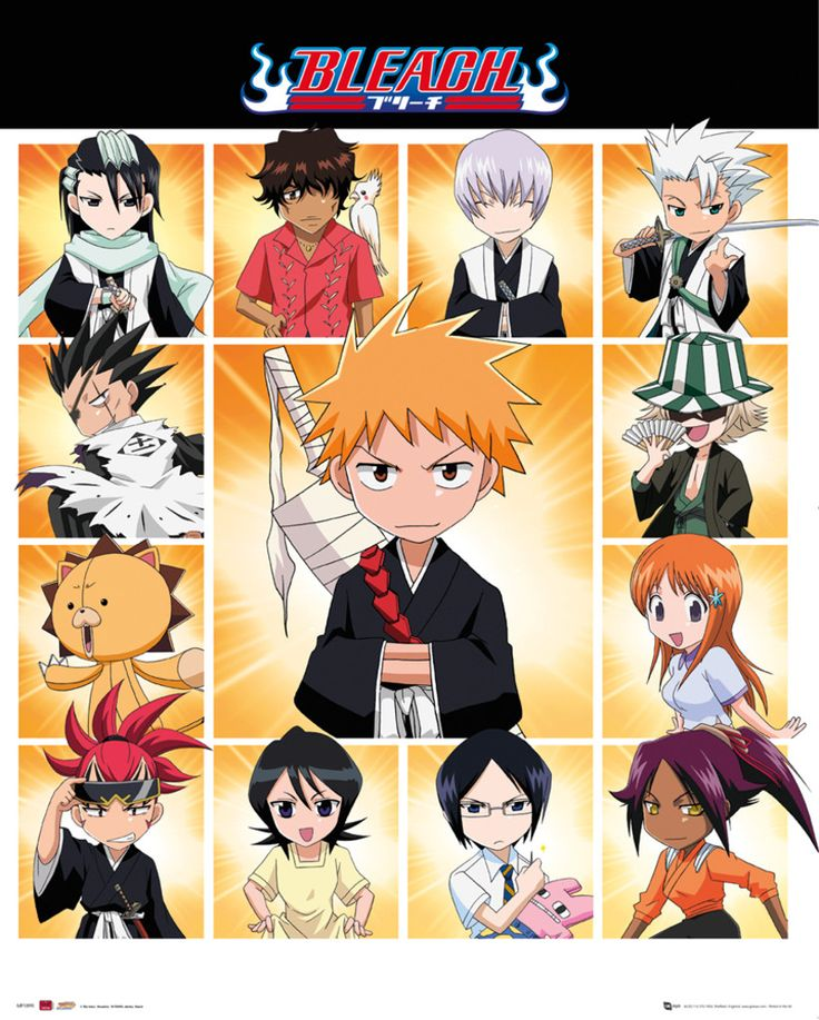 Bleach - Chibi Characters - Official Mini Poster. Official Merchandise. FREE SHIPPING