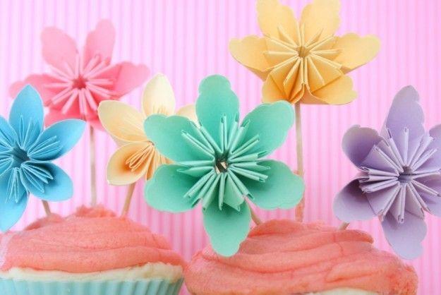 Decorazioni Festa della Donna - Fiori di colori pastello
