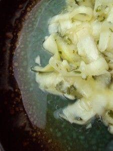 Zuchini en vinagre raw