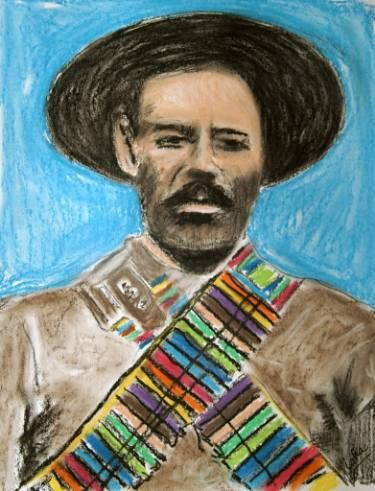 Pancho Villa with Rainbow Bandoliers