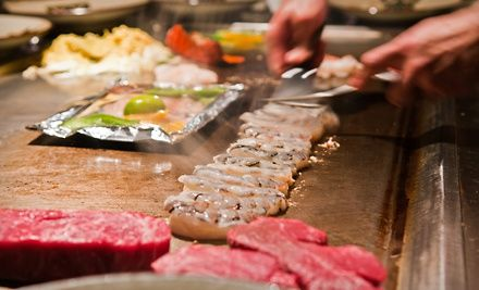 Groupon - $ 25 for $ 50 Worth of Teppanyaki-Style Meat and Seafood at Kobe Steak House. Groupon deal price: $25.00