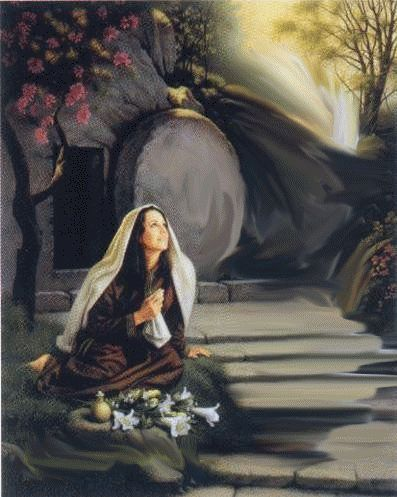 "jesus-no sepulcro a ressurreição de Jesus""MARiA MADALENA vê JESUS"