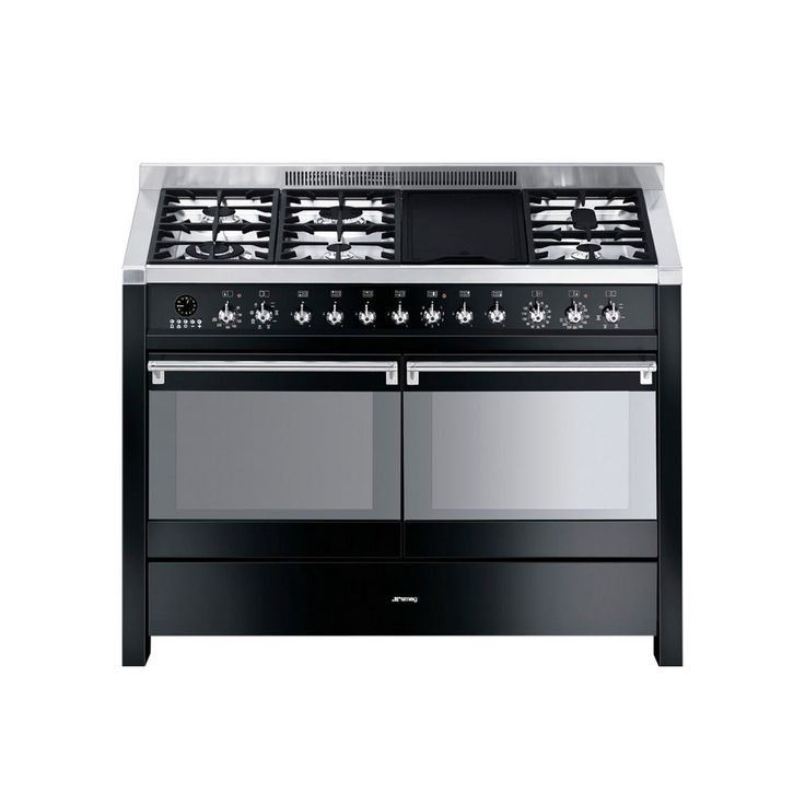 smeg opera 120 dual fuel black range cooker 255 best black range cookers images on pinterest   dual fuel range      rh   pinterest com
