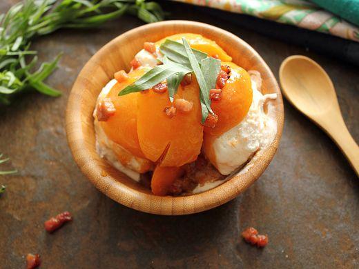 Apricot Tarragon Vanilla Sundae | Apricots | Pinterest