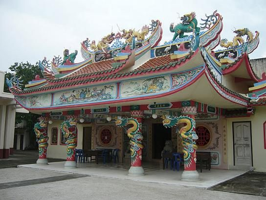 Chinese Temple at Nakhon Si Thammarat in Southern Thailand