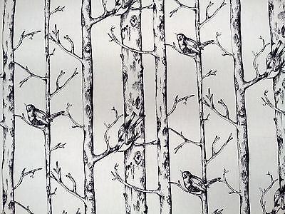 Prestigious Jenny Wren Graphite Bird Design Fabric £9.95
