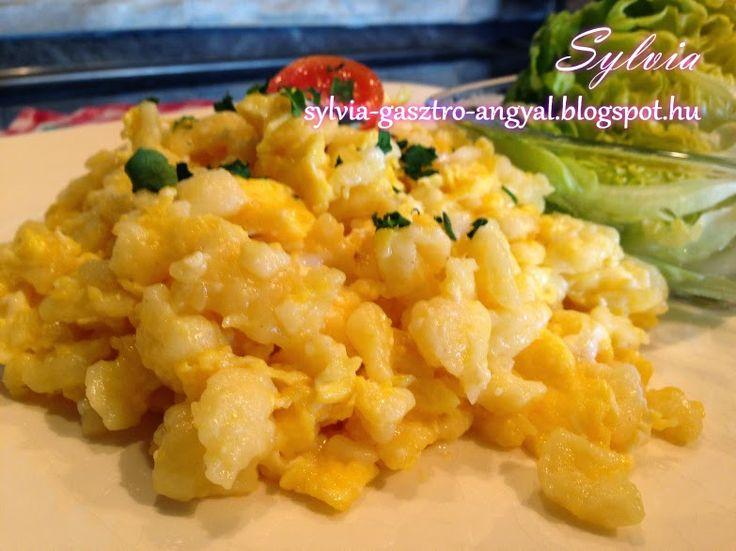 Sylvia Gasztro Angyal: Tojásos nokedli (tojásos galuska)