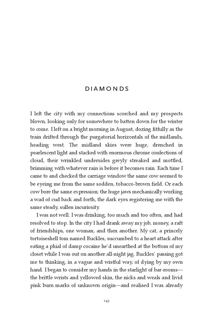 Short story: Diamonds by Colin Barrett
