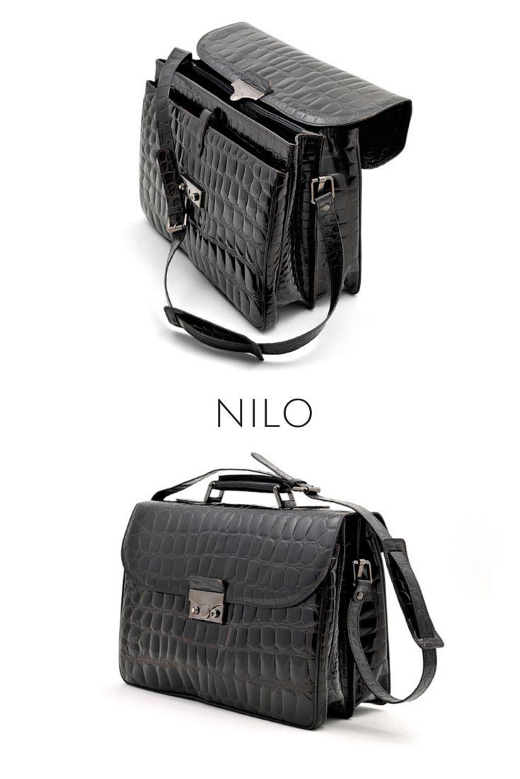 NILO: vitello stampa coccodrillo squama grande.  NILE: calf crocodile print large patterned.  #pelletteria #MadeInItaly #CepiPelletterie #LeatherGoods #bags #office #luxury #fashion
