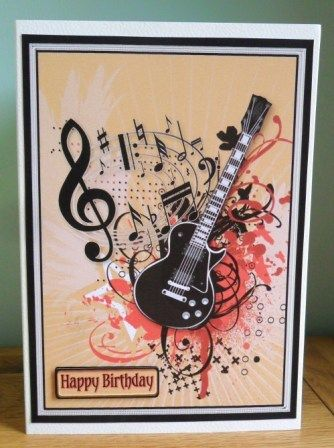 Personalised Handmade Guitar Music Notes Choice 2 Design Male Birthday Card | eBay