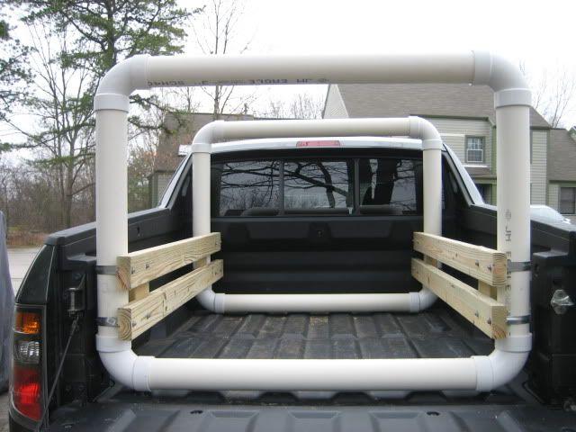 Image result for diy pvc canoe rack for truck
