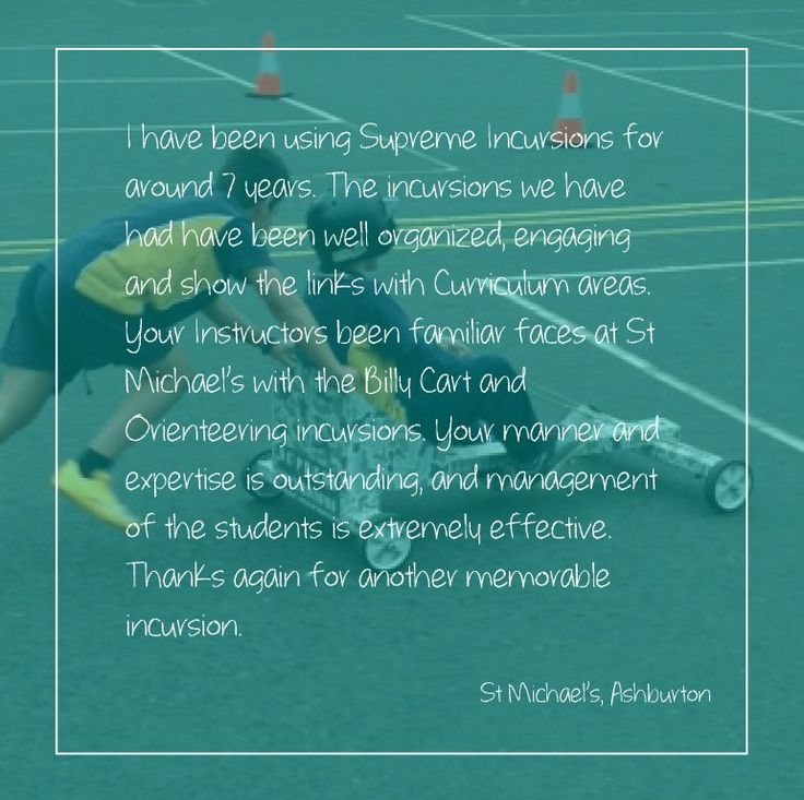 Testimonials. Supreme Incursions. Feedback to help us deliver the best School Incursions