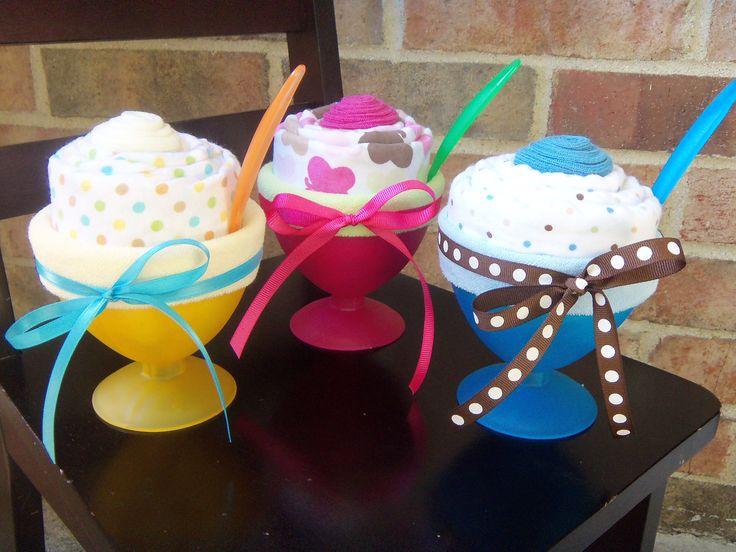 Baby Ice Cream Sundae Baby Shower Gift Decoration Baby