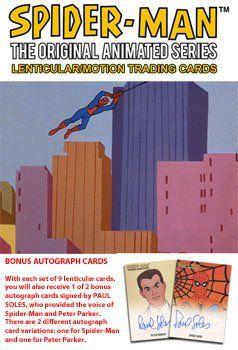 1967 Spider-Man Original Animated Series Lenticular Motion Factory Set & Auto @ niftywarehouse.com #NiftyWarehouse #Spiderman #Marvel #ComicBooks #TheAvengers #Avengers #Comics