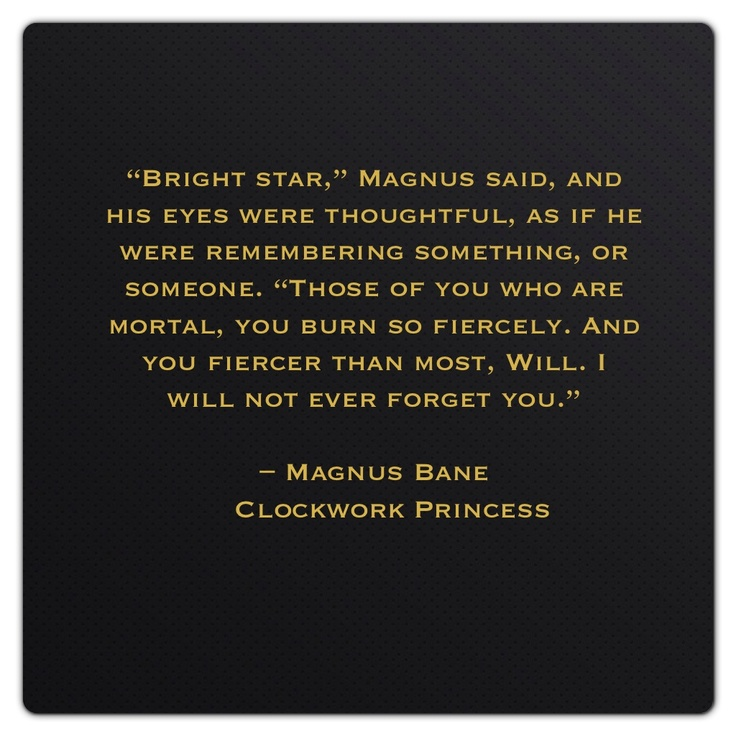 Magnus Bane (Clockwork Princess by Cassandra Clare)