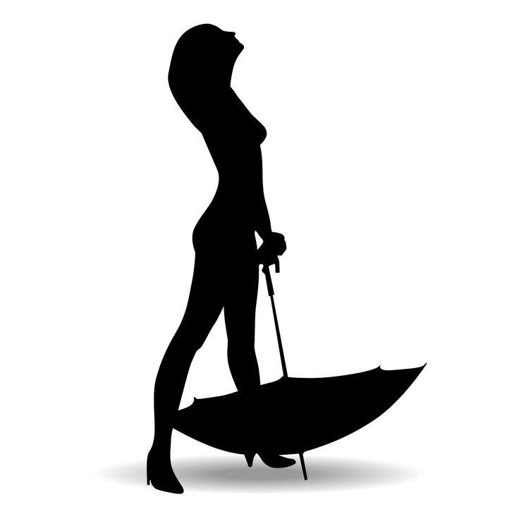 Woman Silhouette | Free Vector Description: Woman silhouette with umbrella vector