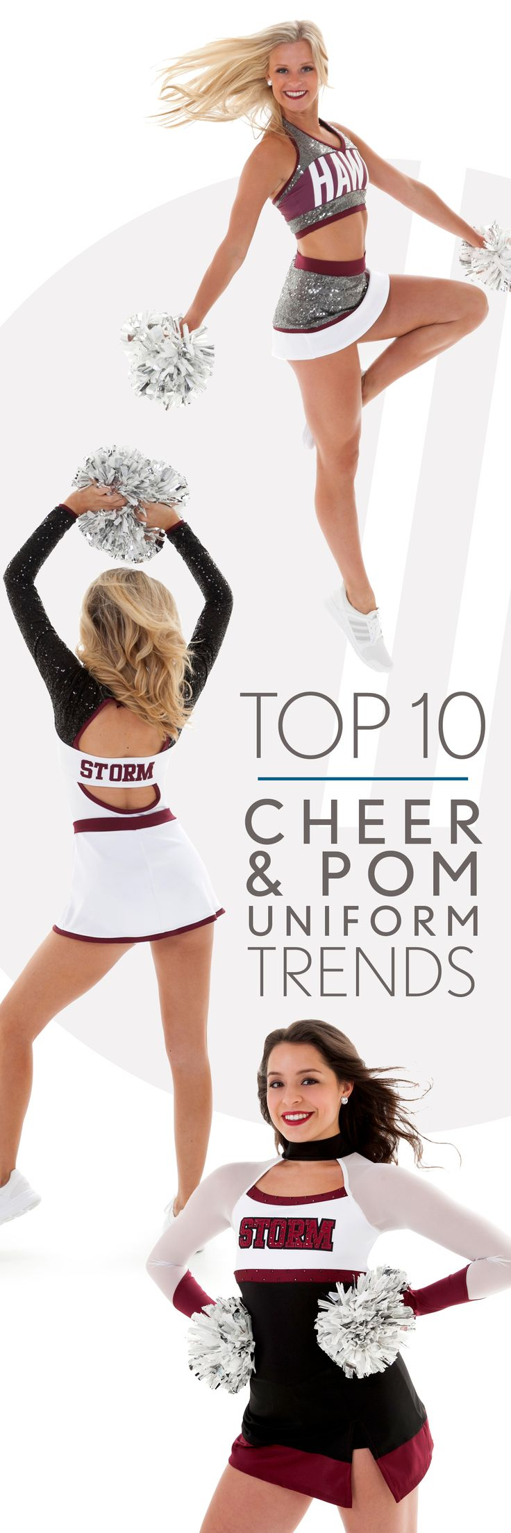 Top 10 Cheer & Pom Uniform Trends for 2017-2018!