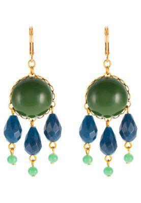 Ohrringe - goldfarben/grün