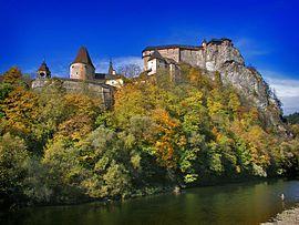 Orava castle in Autumn