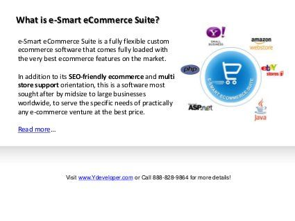 Here is a demo of an custom #ecommerce solution, e-Smart eCommerce Suite. It offers exciting features and multi store management functionality.