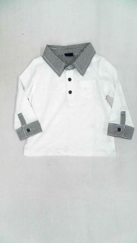 f4b45e6d eBay Sponsored) GAP Boys Cotton Long Sleeve Polo Shirt SZ 6-12 MO ...