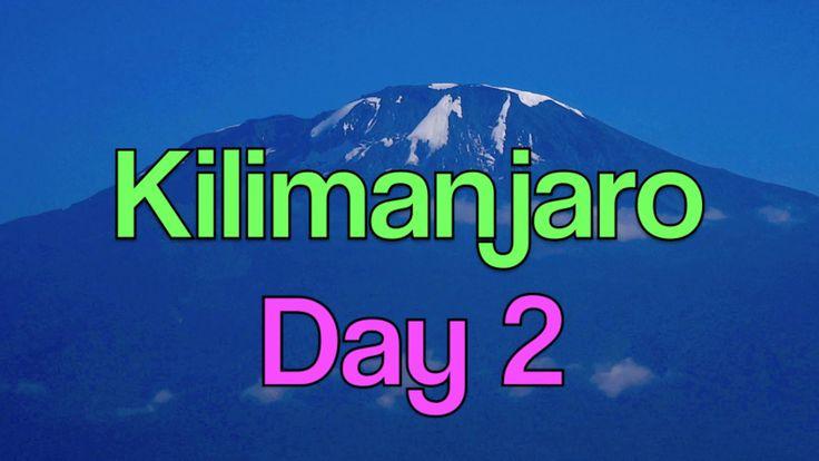 Mt. KILIMANJARO - 2 Cougars - 12 Men - 7 Days - Day 2 - Machame to Shira...