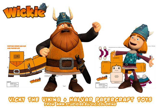 Ninjatoes39 Papercraft Weblog Vicky The Viking And Halvar