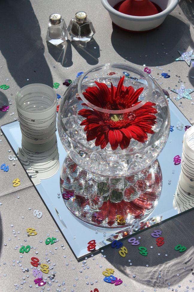 40th wedding anniversary centerpiece ideas mini bridal for Decoration 40th anniversary