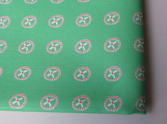 Fat Quarter Apple Green Original Print by mabelandgeorge on Etsy, $18.00