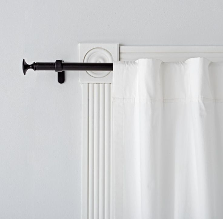 single black curtain rod
