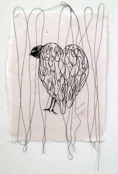 田村智美透かし和紙個展を終えて : +P里美の『Bronze & Willow』Etching note