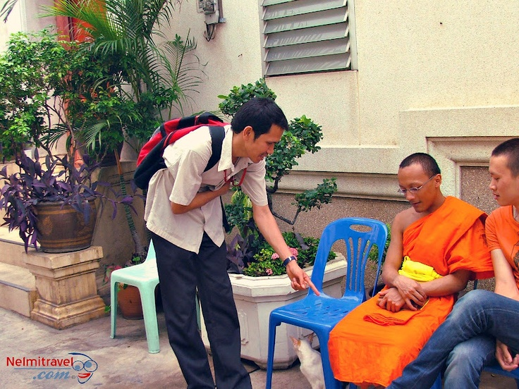 The Buddhist monks of Thailand