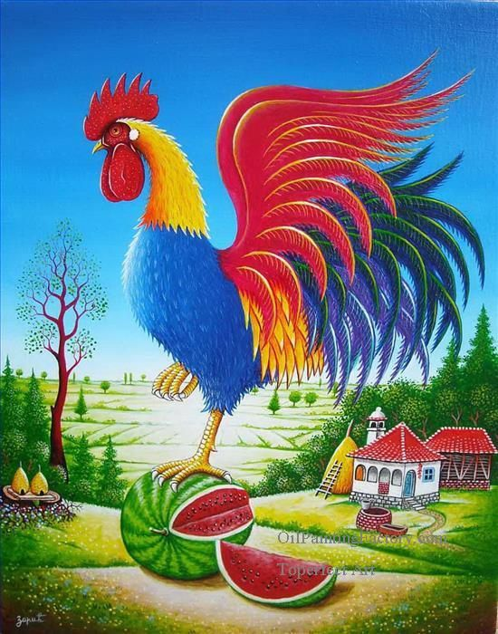 4-cartoon-cock-and-village