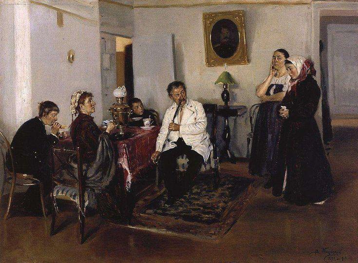Наем прислуги. 1891 В.Е.Маковский