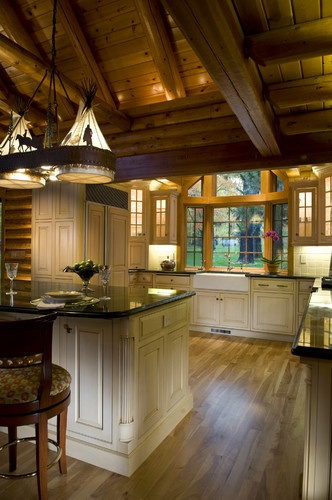 Beautiful kitchen love the ceilings