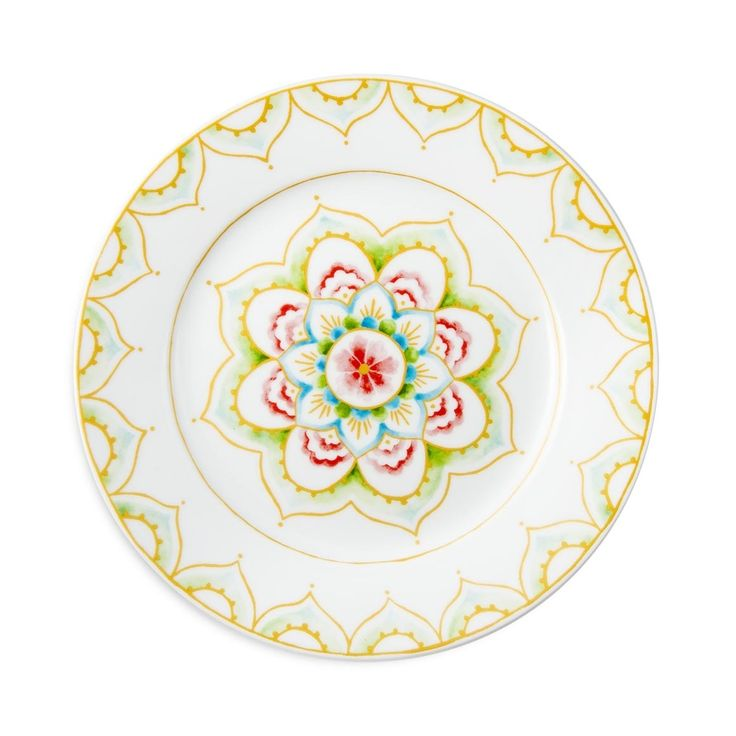 "'Lotus' Side Plate  ""Life began with waking up and loving my mother's face."" —George Eliot"