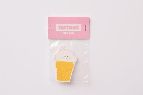 crème glacée  Tatouage temporaire par OxmoLola sur Etsy
