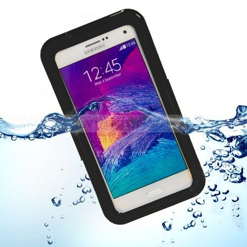 Waterproof Hard Case for Samsung Galaxy Note 4 Black