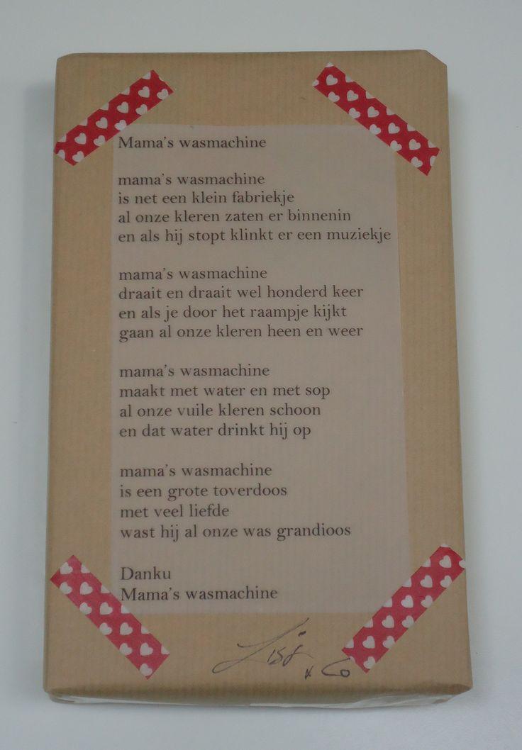 Diy cadeautje versieren met gedicht in plaats van een strikje heel gemakkelijk en mooi met washi - Versieren van een muur in ...