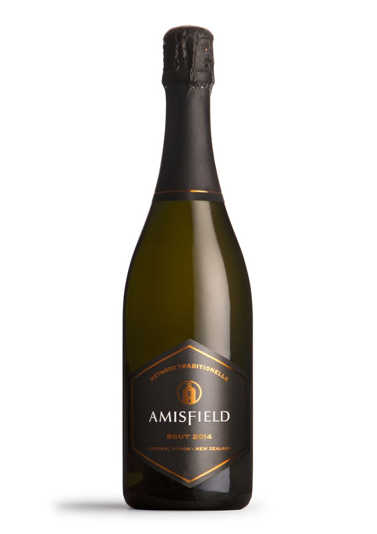 Amisfield Brut 2014 - Straw cold in colour, the nose displays fresh citrus and stone fruit characters with nuance of lemon sorbet. The palate has a zesty acidity, elegant and lean with a streak of minerality on the finish.