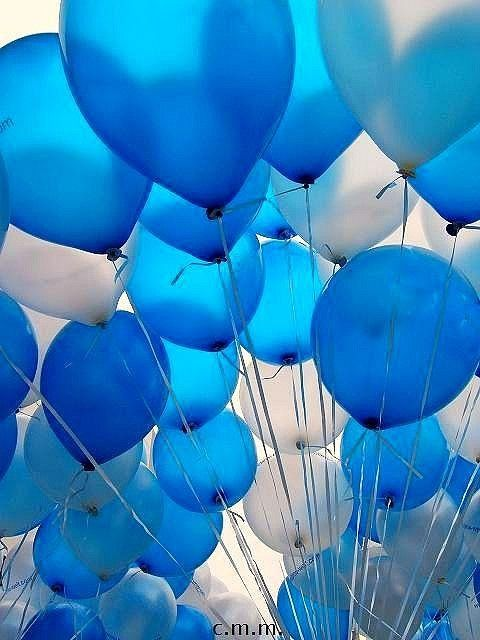 Blue balloons, posted by janice.christensen-dean via indulgy.com