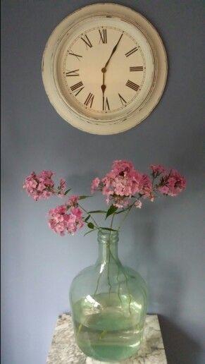 Bloemen uit eigen tuin; simpel en mooi...