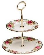 Royal Albert Old Country Roses 2 Tier Cake Stand 16cm, 20cm